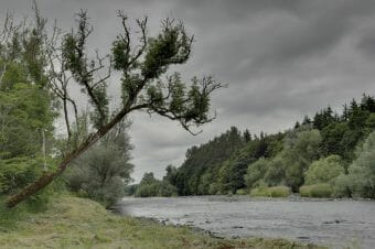 cloudy day on a river perfect for moody passionate photographs