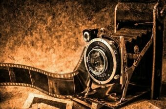 Camera showing passion for photography.